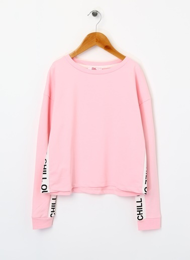 Pink&Orange Sweatshirt Pembe